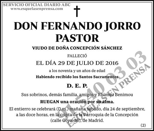 Fernando Jorro Pastor